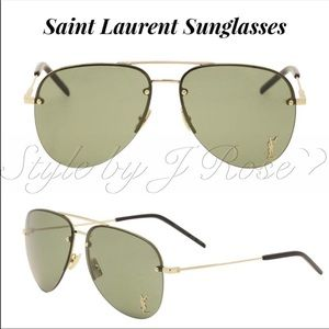 NIB YSL Classic 11M Aviator Sunglasses